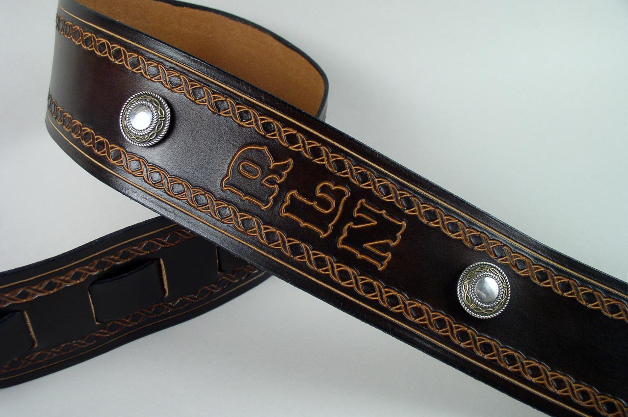 Custom Leather Guitar Straps Personalized