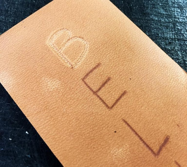 Etch lettering in leather personalizes your project