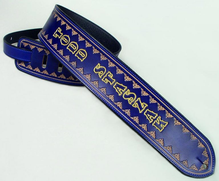 Design Elements Of Leather Guitar Straps