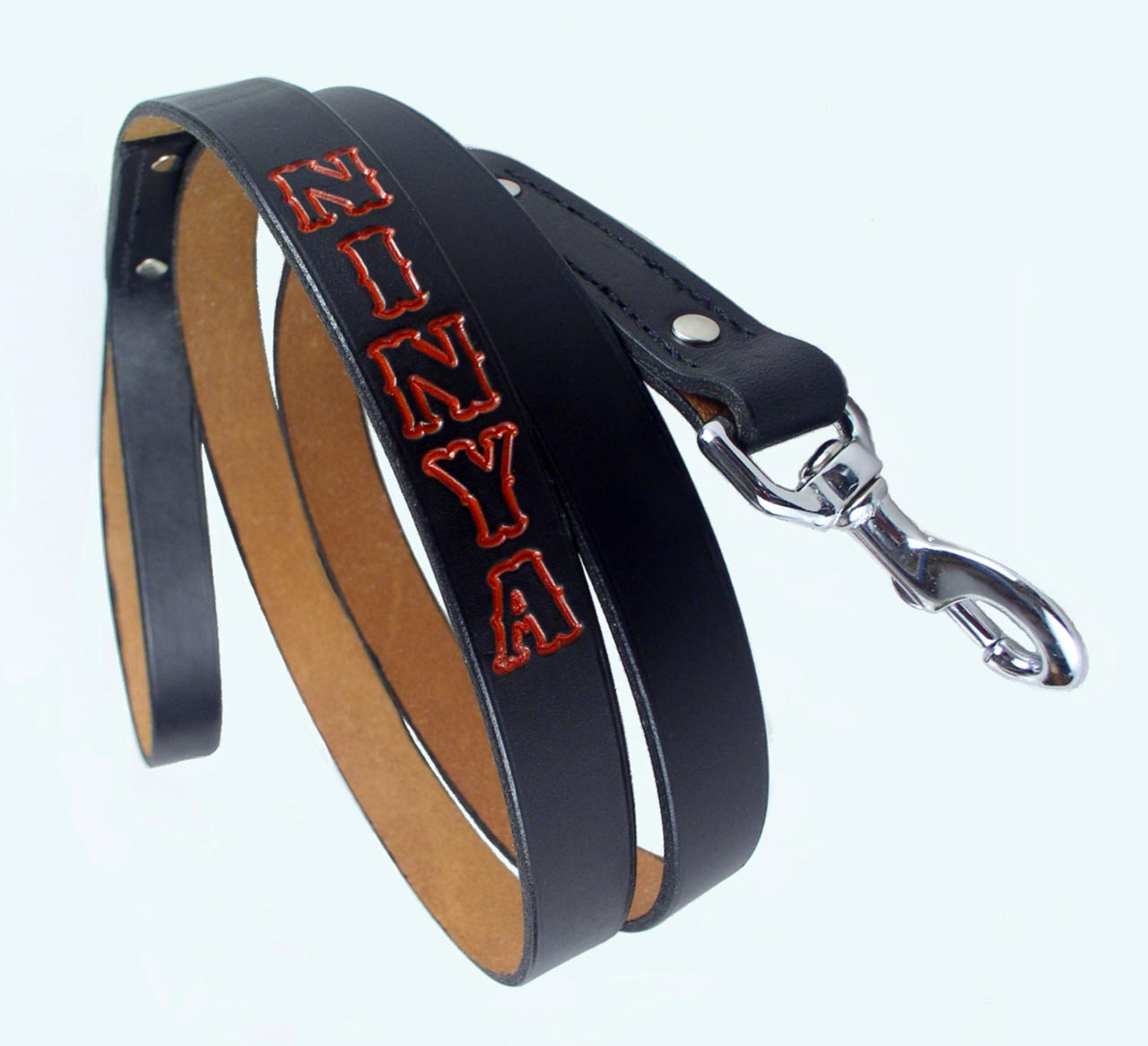 leather personalized dog leashes