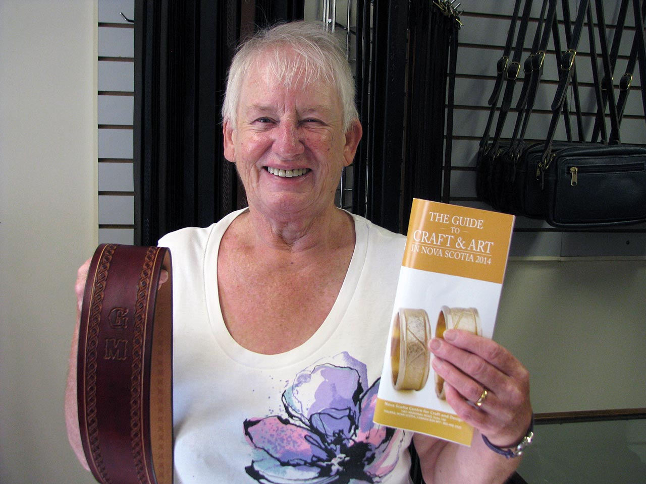 Margaret MacKenzie enjoyed her vacation touring Nova Scotia