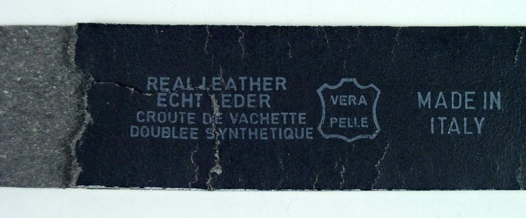 Bonded leather is not genuine leather