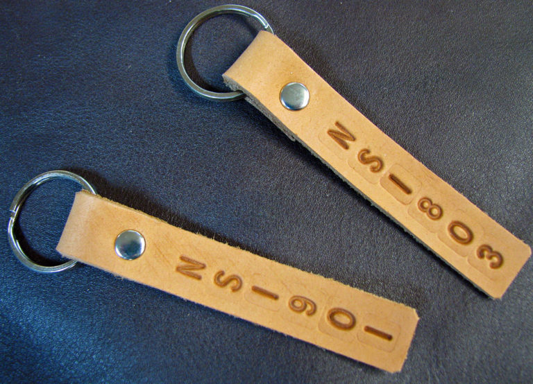 making leather key tags