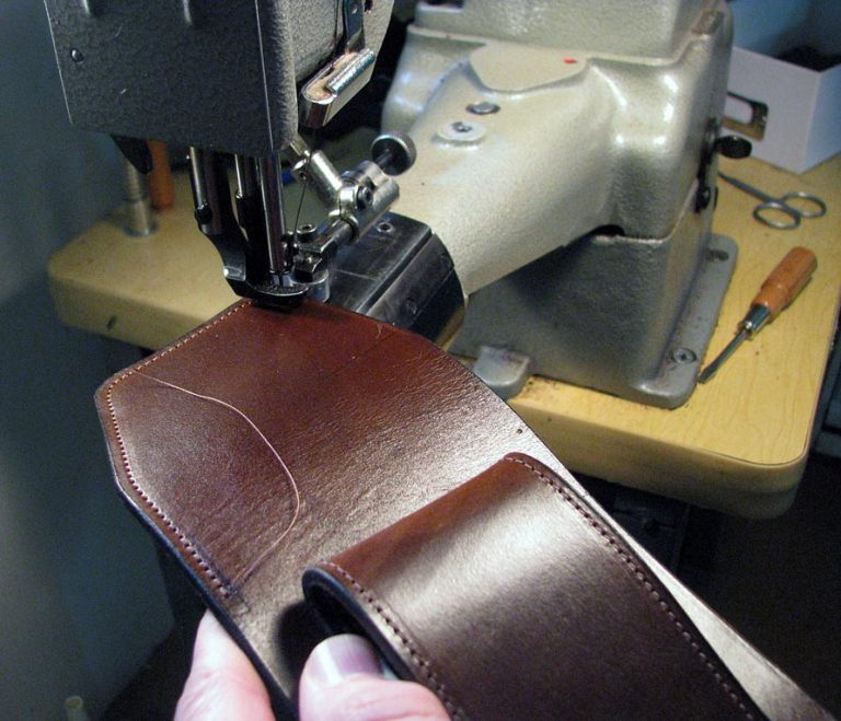 Sewing leather iPhone case