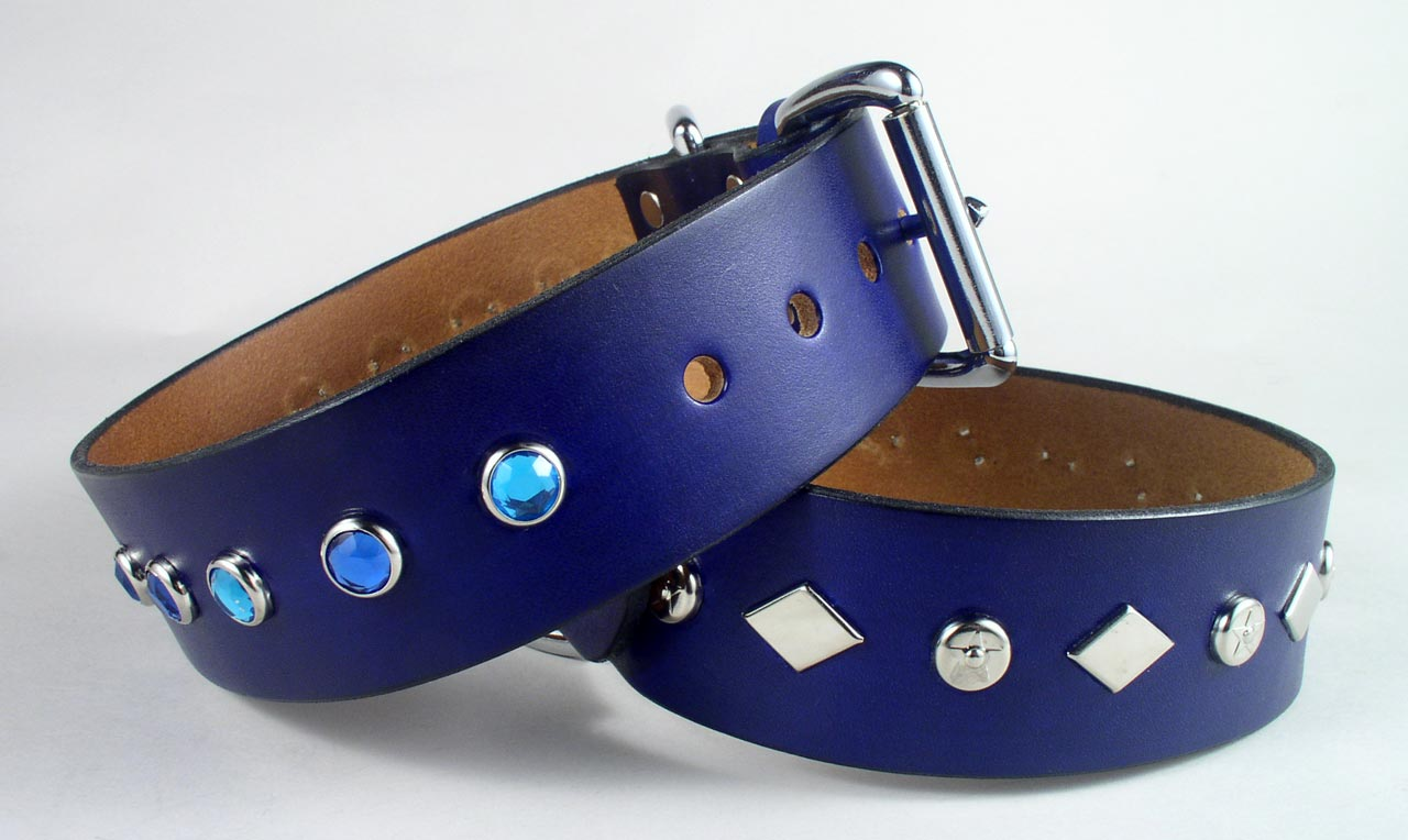spiked jeweled studded dog collars