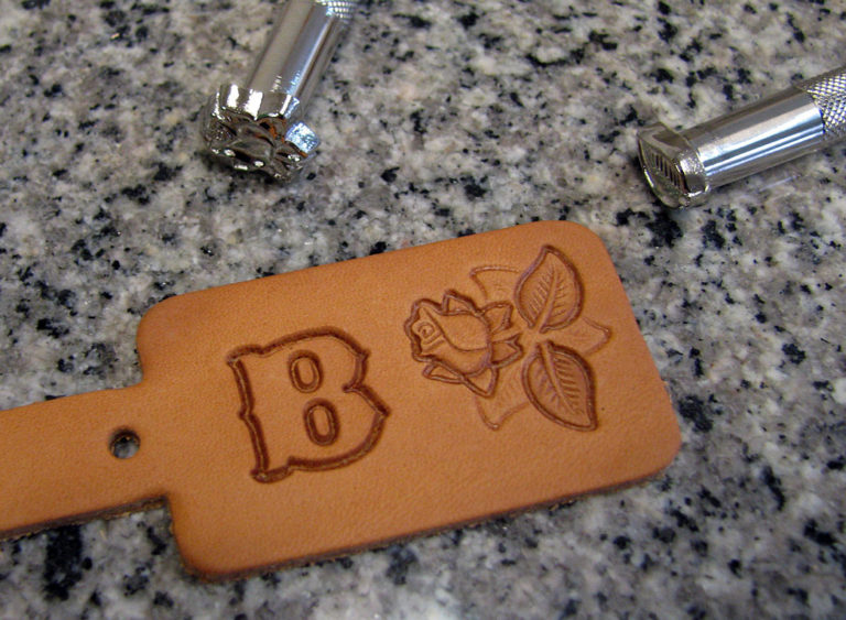 stamping leather key chains