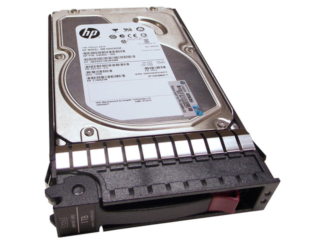 "HP 646894-001 Hard Drive 1TB 7.2K SATA 3.5"" in Tray"