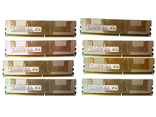HP 495604-B21 Memory 64GB PC2-5300F - 8 Pack