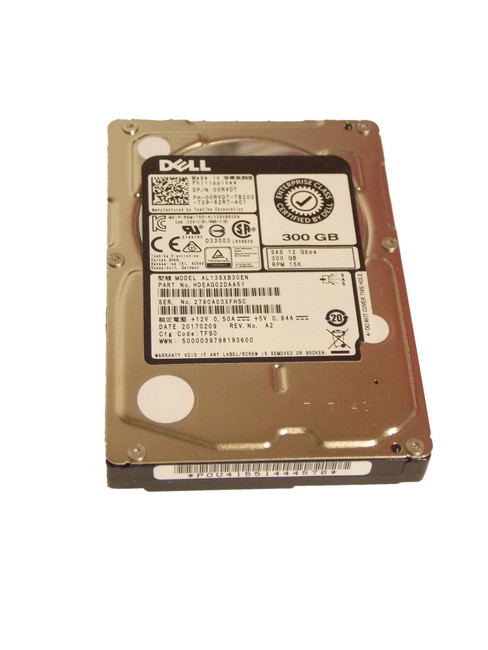 "Dell 0RVDT Hard Drive 300GB 715K 2.5"" SAS HD"