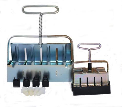 Soil Blocker Bundle Mini 4, Micro 20, cubic and dowel pin inserts