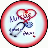 Nurses Heart Red BR