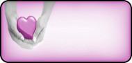 Heart in Hands Pink
