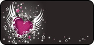 Winged Heart Pink