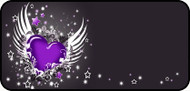 Winged Heart Purple
