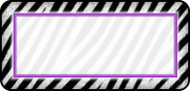Zebra White & Purple