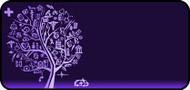 Med Sketch Tree Purple