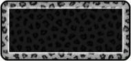 Snow Leopard Print Black