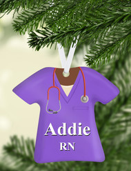 Scrub Top Purple Ornament