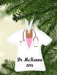 Lab Coat Pink Ornament