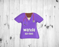 Scrub Top Magnet Purple
