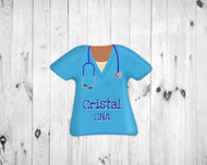 Scrub Top Magnet Blue