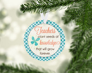 Teacher Seeds Ornament