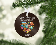 School Heart Ornament