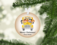 Wheels on the Bus Tan Ornament