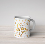 Golden I Love You Mug