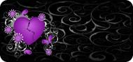 Broken Heart Purple