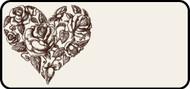 Sketched Rose Heart
