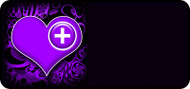 Med Heart Purple