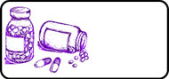Pill Sketch Purple
