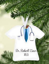 Lab Coat w/ Tie Ornament