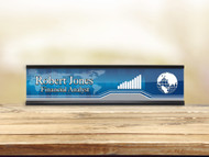 Business Blue Desk Plate w/ Insert