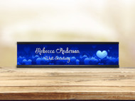Stuck Love Blue Desk Plate w/ Insert
