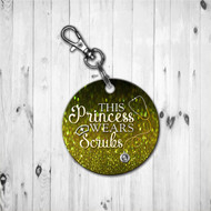 Scrub Princess Gold Keychain