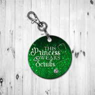 Scrub Princess Green Keychain