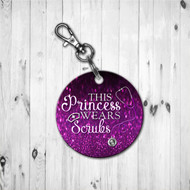Scrub Princess Purple Keychain