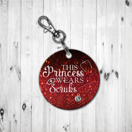 Scrub Princess Red Keychain