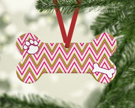 Pet Stripes Pink Ornament