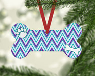 Pet Stripes Purple Ornament