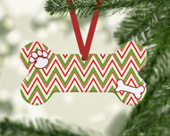 Pet Stripes Red Ornament