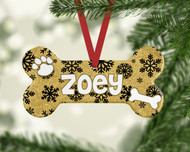 Pet Black Snowflakes Ornament
