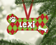Pet Argyle Ornament