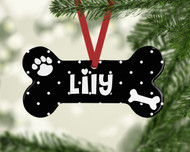 Pet Dots Black Ornament