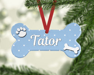 Pet Dots Lt Blue Ornament
