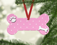 Pet Dots Lt Pink Ornament