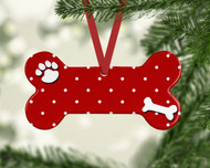 Pet Dots Red Ornament