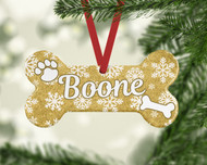 Pet Gold Snowflakes Ornament